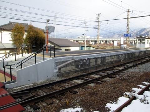 村山駅嵩上げ工事
